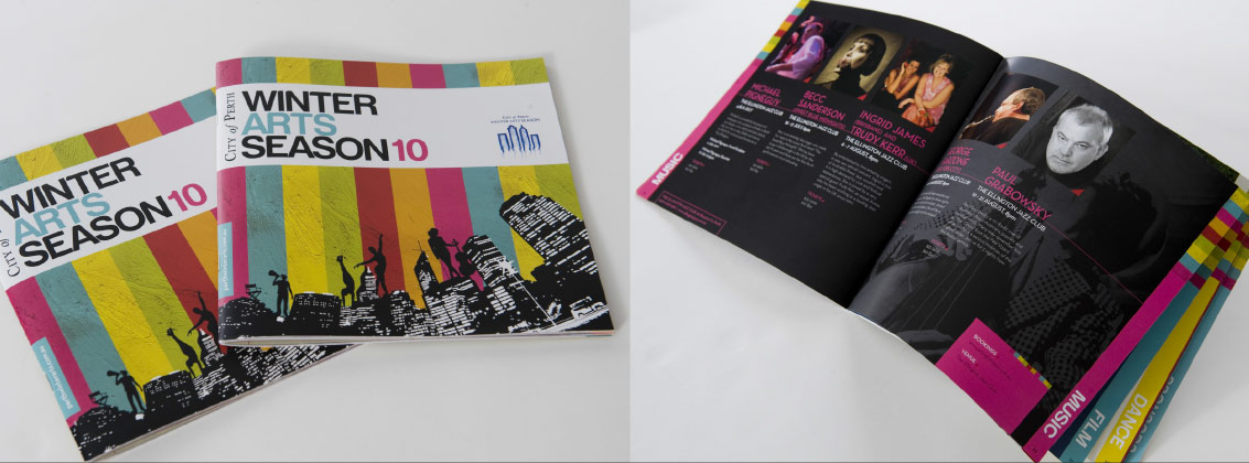 Winter Arts Print Design Brochure